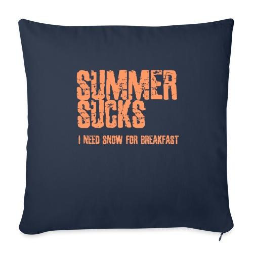 SUMMER SUCKS - Sofa pillowcase 17,3'' x 17,3'' (45 x 45 cm)