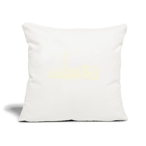 Helsinki railway station pattern trasparent beige - Sofa pillowcase 17,3'' x 17,3'' (45 x 45 cm)