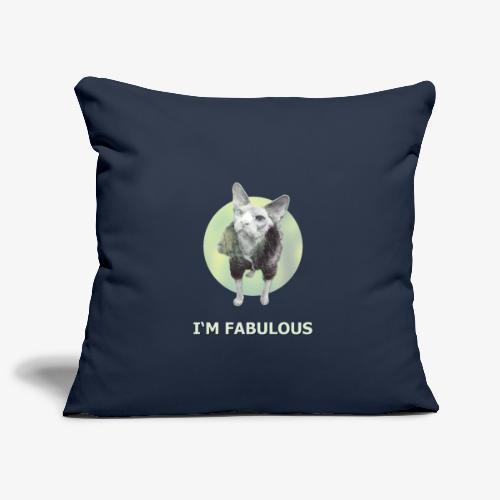 I'm fabulous with the Cat - Sofakissenbezug 44 x 44 cm