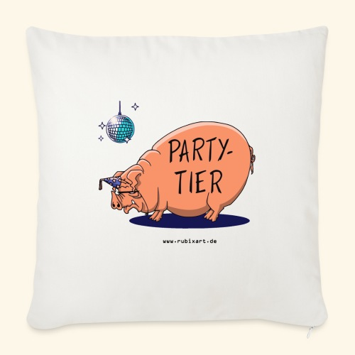Partytier Schwein Fete Feier Party Sau - Sofakissenbezug 44 x 44 cm