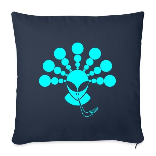 The Smoking Alien Light Blue - Sofa pillowcase 17,3'' x 17,3'' (45 x 45 cm)