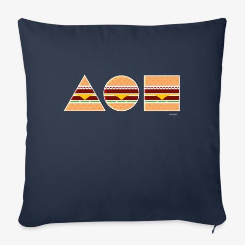 Graphic Burgers - Copricuscino per divano, 45 x 45 cm