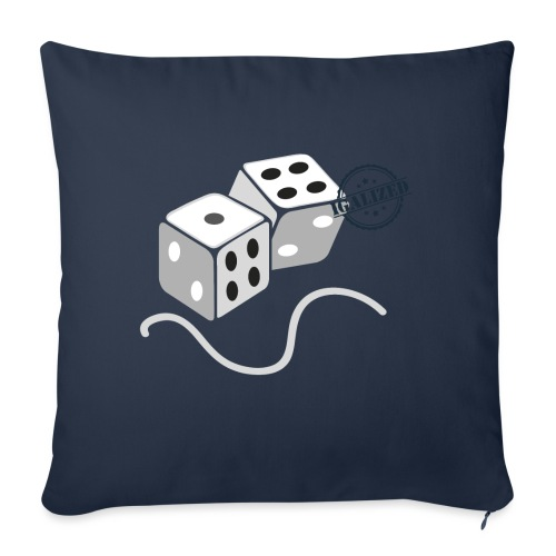 Dice - Symbols of Happiness - Sofa pillowcase 17,3'' x 17,3'' (45 x 45 cm)