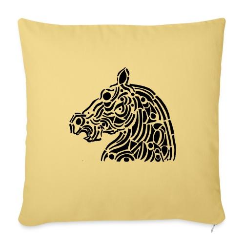 Horse - cheval tribal - Housse de coussin décorative 45x 45cm