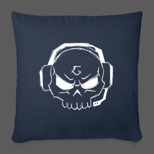 Gamer Skull Logo WHITE - Sofakissenbezug 44 x 44 cm