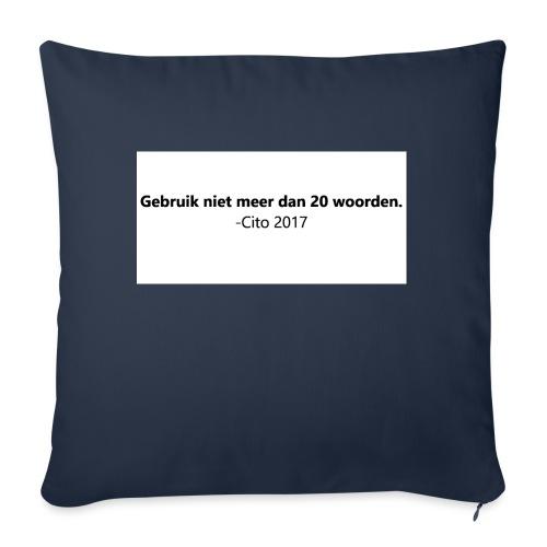 Gebruik niet meer dan 20 woorden - Sierkussenhoes, 45 x 45 cm