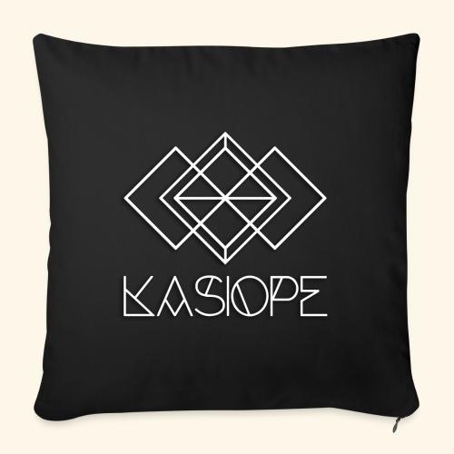 Logo Kasiope blanc - Housse de coussin décorative 45x 45cm