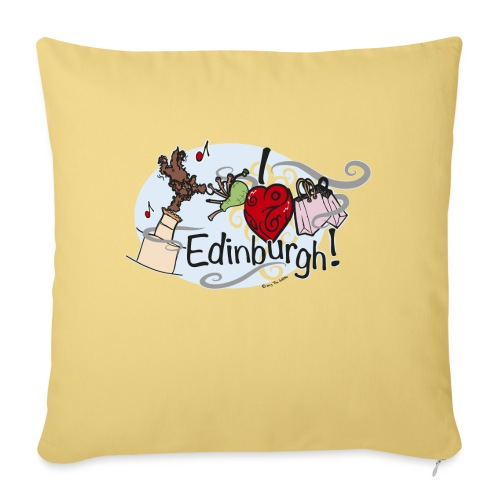 I love Edinburgh - Sofa pillowcase 17,3'' x 17,3'' (45 x 45 cm)