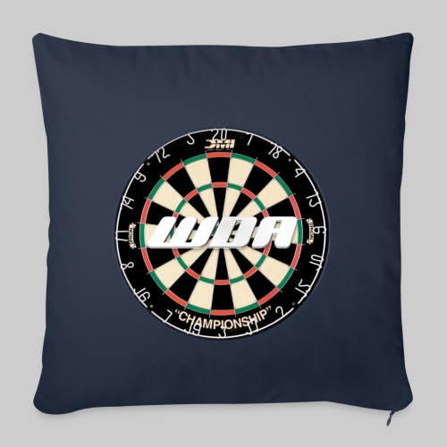 wda dartboard logo - Sofa pillowcase 17,3'' x 17,3'' (45 x 45 cm)
