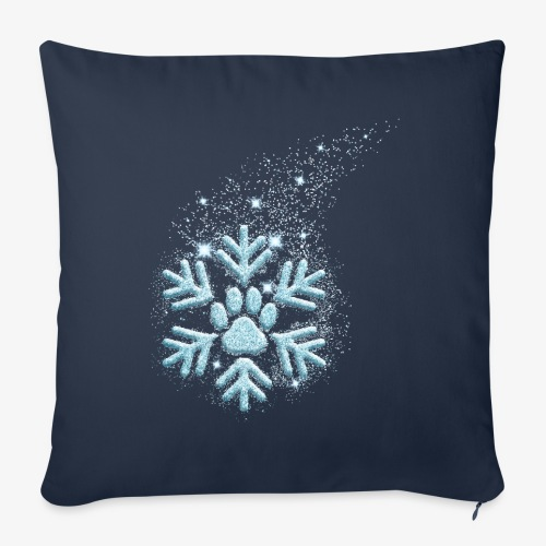 dog paw snowflake - Sofakissenbezug 44 x 44 cm