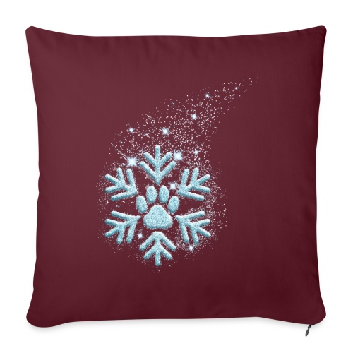 Vorschau: dog paw snowflake - Sofakissenbezug 44 x 44 cm