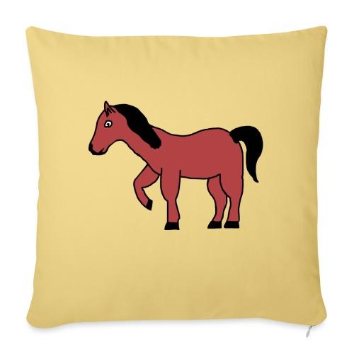 pferd Pony Reiten - Sofakissenbezug 44 x 44 cm