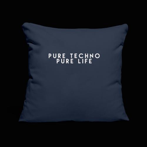 Pure Techno Pure Life White - Sofakissenbezug 44 x 44 cm