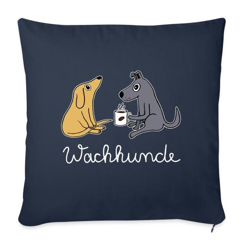 Wachhund trinkt Kaffee Koffein weckt müde Hunde - Sofakissenbezug 44 x 44 cm