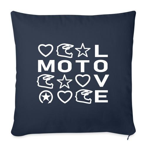 MOTOLOVE 9ML01 W - Sofa pillowcase 17,3'' x 17,3'' (45 x 45 cm)
