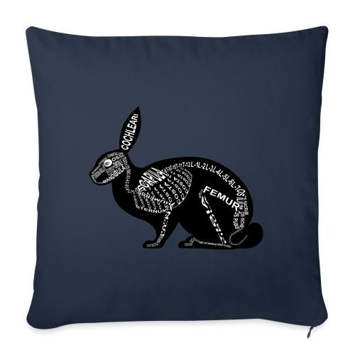 konijn skelet - Sierkussenhoes, 45 x 45 cm