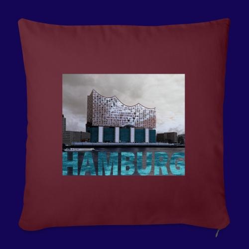 Elbphilharmonie   HAMBURG-Typo  Künstlermotiv - Sofakissenbezug 44 x 44 cm