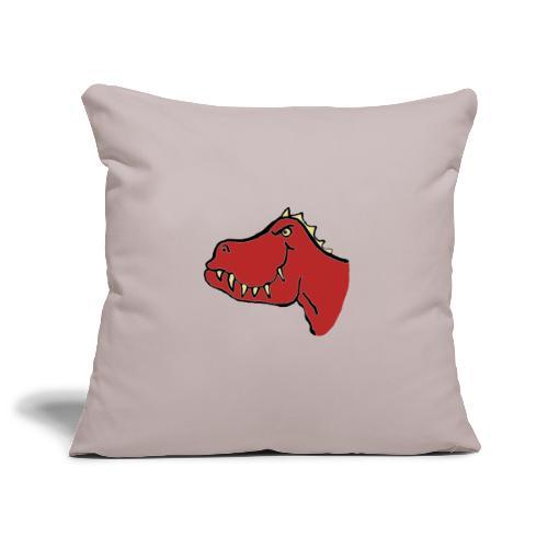 T Rex, Red Dragon - Sofa pillowcase 17,3'' x 17,3'' (45 x 45 cm)