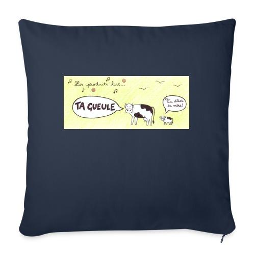 Vache pas laitière - Housse de coussin décorative 45x 45cm