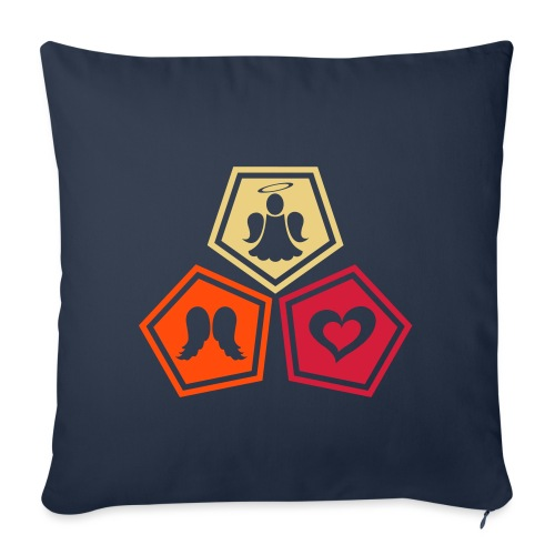 Tee shirt baseball Enfant Trio ange, ailes d'ange - Sofa pillowcase 17,3'' x 17,3'' (45 x 45 cm)
