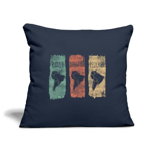 Ramer-Douglas-Peucker Stripes - South America - Sofa pillowcase 17,3'' x 17,3'' (45 x 45 cm)