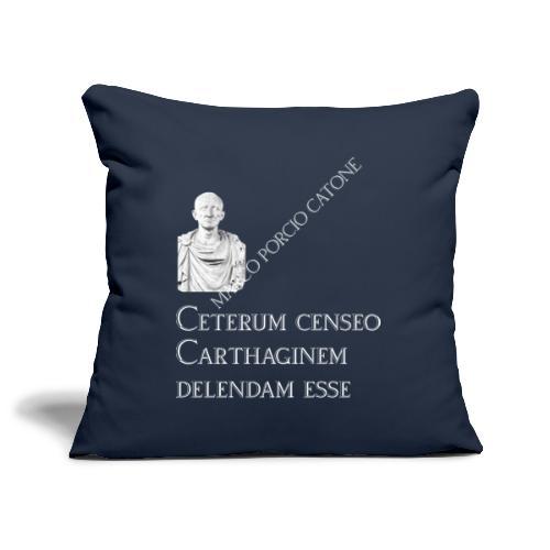 Antica Roma Cesare e Catone - Copricuscino per divano, 45 x 45 cm