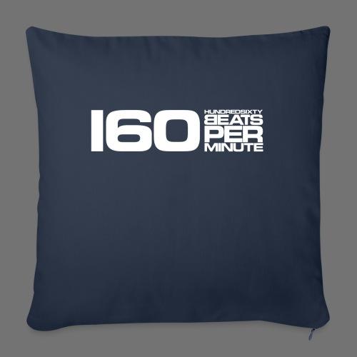 160 BPM (białe długie) - Poszewka na poduszkę 45 x 45 cm