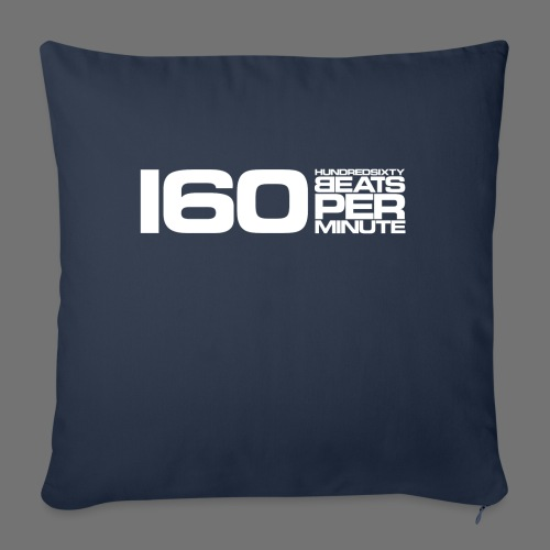 160 BPM (white long) - Sofa pillowcase 17,3'' x 17,3'' (45 x 45 cm)