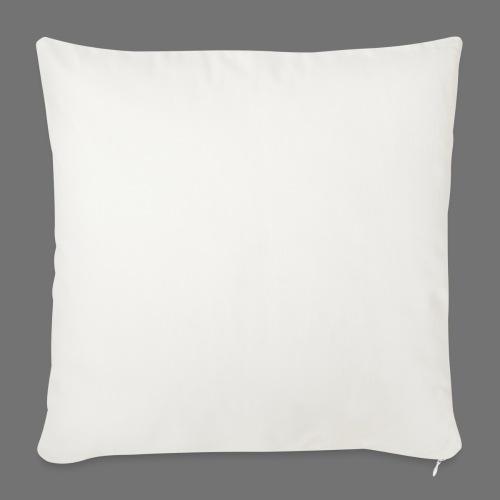 160 BPM (valkoinen pitkä) - Sohvatyynyn päällinen 45 x 45 cm