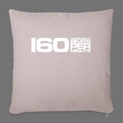 160 BPM (white long) - Sofa pillowcase 17,3'' x 17,3'' (45 x 45 cm)