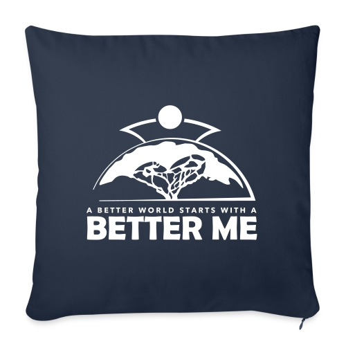 Better Me - White - Sofa pillowcase 17,3'' x 17,3'' (45 x 45 cm)