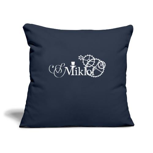 miklof logo white 3000px - Sofa pillowcase 17,3'' x 17,3'' (45 x 45 cm)