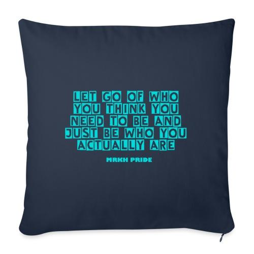 Pute med Quote - Sofa pillowcase 17,3'' x 17,3'' (45 x 45 cm)