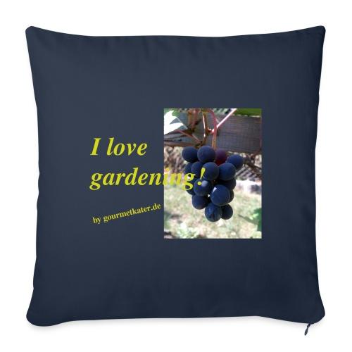 Weintraube - I love gardening - Sofakissenbezug 44 x 44 cm