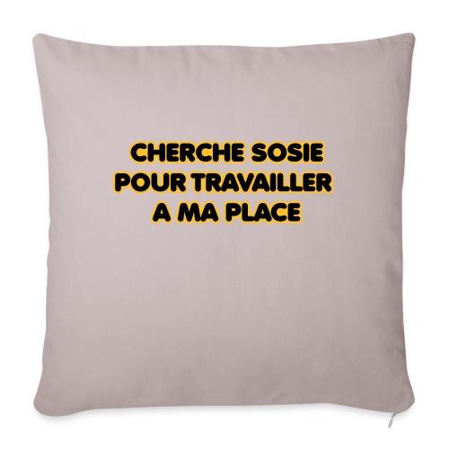 cherche_sosie2 - Housse de coussin décorative 45x 45cm