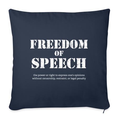 Freedom of speech - wolność słowa - Poszewka na poduszkę 45 x 45 cm