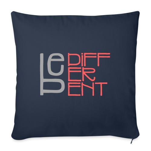 Be different - Fun Spruch Statement Sprüche Design - Sofakissenbezug 44 x 44 cm