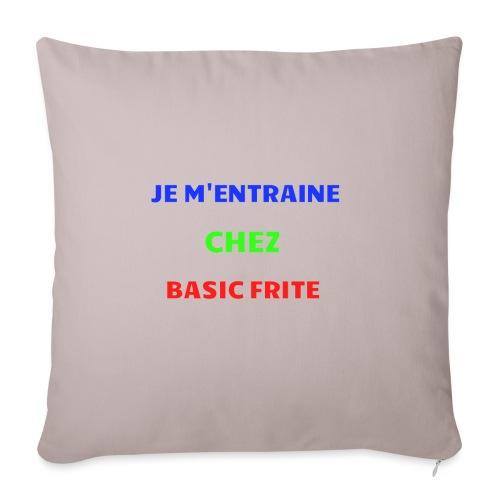 Basic Frite - Housse de coussin décorative 45x 45cm
