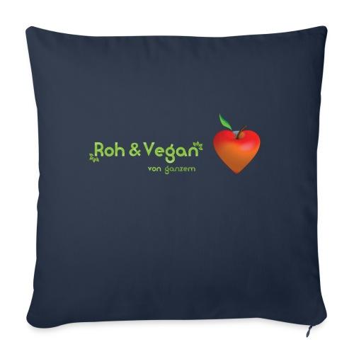 Roh & Vegan rotes Apfelherz (Rohkost) - Sofakissenbezug 44 x 44 cm