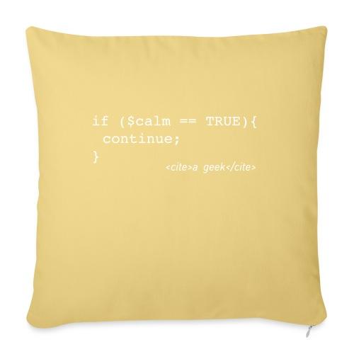 Coder's Keep Calm (with white text) - Sofa pillowcase 17,3'' x 17,3'' (45 x 45 cm)