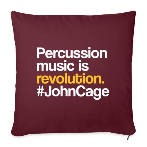 John Cage - Percussion Music (Schlagzeug Motiv) - Sofakissenbezug 44 x 44 cm