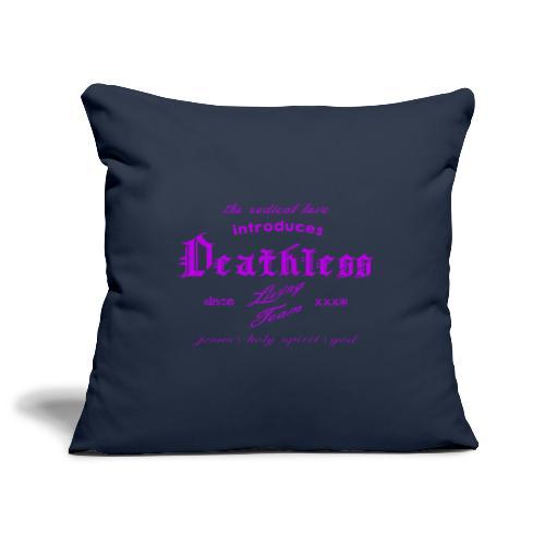 deathless living team violet - Sofakissenbezug 44 x 44 cm