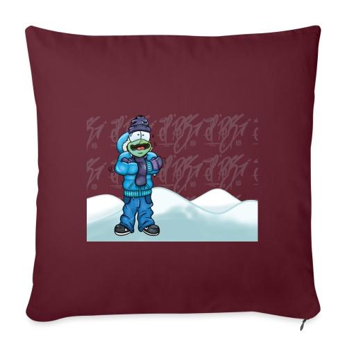 Freezing Turtle Snowboarder/Frierender Snowboarder - Sofakissenbezug 44 x 44 cm