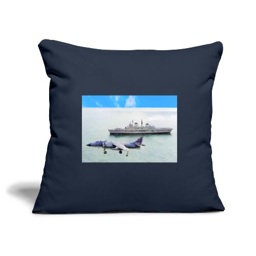 Sea harrier and Invicible digital oil - Sofa pillowcase 17,3'' x 17,3'' (45 x 45 cm)