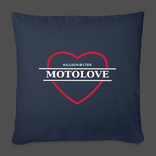 MOTO LOVE - Sofa pillowcase 17,3'' x 17,3'' (45 x 45 cm)