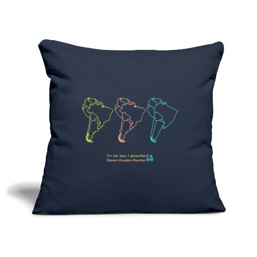 Ramer-Douglas-Peucker Algorithm - South America - Sofa pillowcase 17,3'' x 17,3'' (45 x 45 cm)