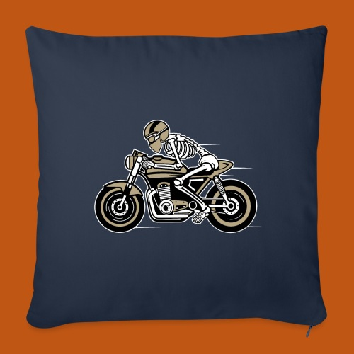 Cafe Racer Motorrad 05_dreifarbig - Sofakissenbezug 44 x 44 cm