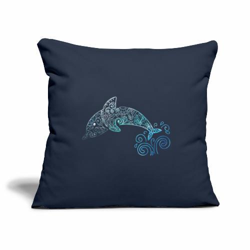 Delfino Mandala #1 - Copricuscino per divano, 45 x 45 cm