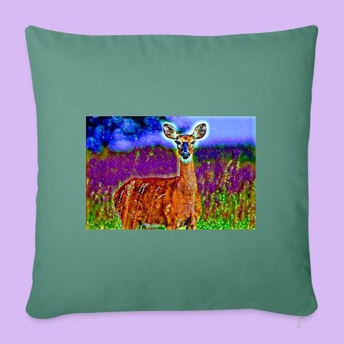 Cerbiatto con magici effetti - Copricuscino per divano, 45 x 45 cm