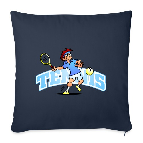 Tennis IV txt fc - Sofa pillowcase 17,3'' x 17,3'' (45 x 45 cm)